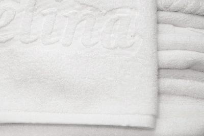 Πετσέτα ξενοδοχείου δίκλωνη με ενδοϋφασμένο λογότυπο TerryTex