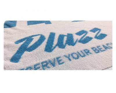 Πετσέτα δίχρωμη με ενδοϋφασμένο λογότυπο TerryTex