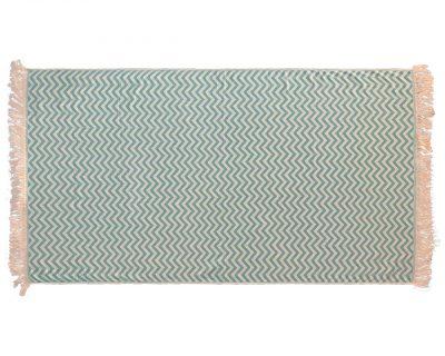 Πετσέτα παρεό δίχρωμη με ενδοϋφασμένο λογότυπο TerryTex
