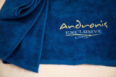 Πετσέτα πισίνα-θαλάσσης με κεντημένο λογότυπο TerryTex