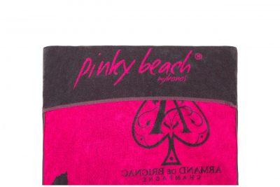 Πετσέτα πισίνας-θαλάσσης δίχρωμη με ενδοϋφασμένο λογότυπο και θήκη για ξαπλώστρα TerryTex