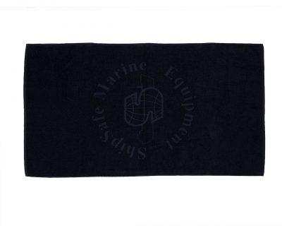 Πετσέτα σκάφους μονόχρωμη με ενδοϋφασμένο λογότυπο TerryTex
