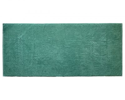 Πετσέτα πισίνας-θαλάσσης μονόχρωμη με ενδοϋφασμένο λογότυπο TerryTex