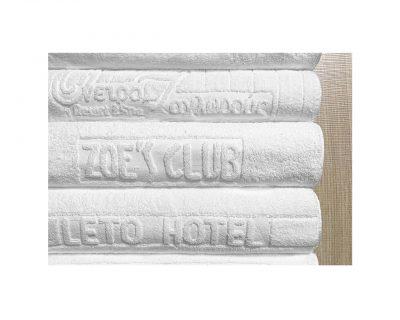 Πετσέτες ξενοδοχείου δίκλωνες με ενδοϋφασμένο λογότυπο TerryTex