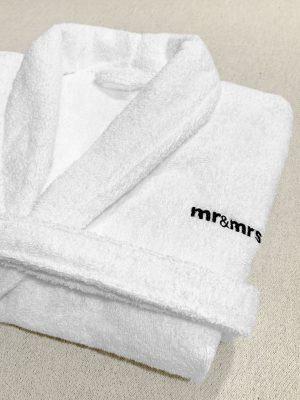 Μπουρνούζι terry 100%cotton πενιέ δίκλωνο με κεντημένο λογότυπο TerryTex