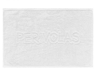 Πατάκι μπάνιου μονόχρωμο με ενδοϋφασμένο λογότυπο